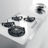 NEW WHIRLPOOL WHITE GAS-ON-GLASS HOB