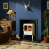 The Dimplex Auberry is a traditionally-styled compact electric stove with a modern twist