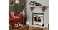 The Dimplex Chevalier electric stove finished in creamy-white