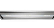 The KitchenAid fully flush-mounted ceiling hood is a neat solution for designers