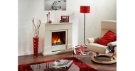 The Dimplex Moorefield complete fireplace suite
