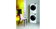 New eco-friendly Whirlpool washing machine and tumble dryer take up less space in the kitchen
