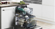MAYTAG'S HIGHLY EFFICIENT FIFTEEN PLACE SETTING DISHWASHER