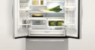 KitchenAid's three-door refrigerator is high, wide and handsome